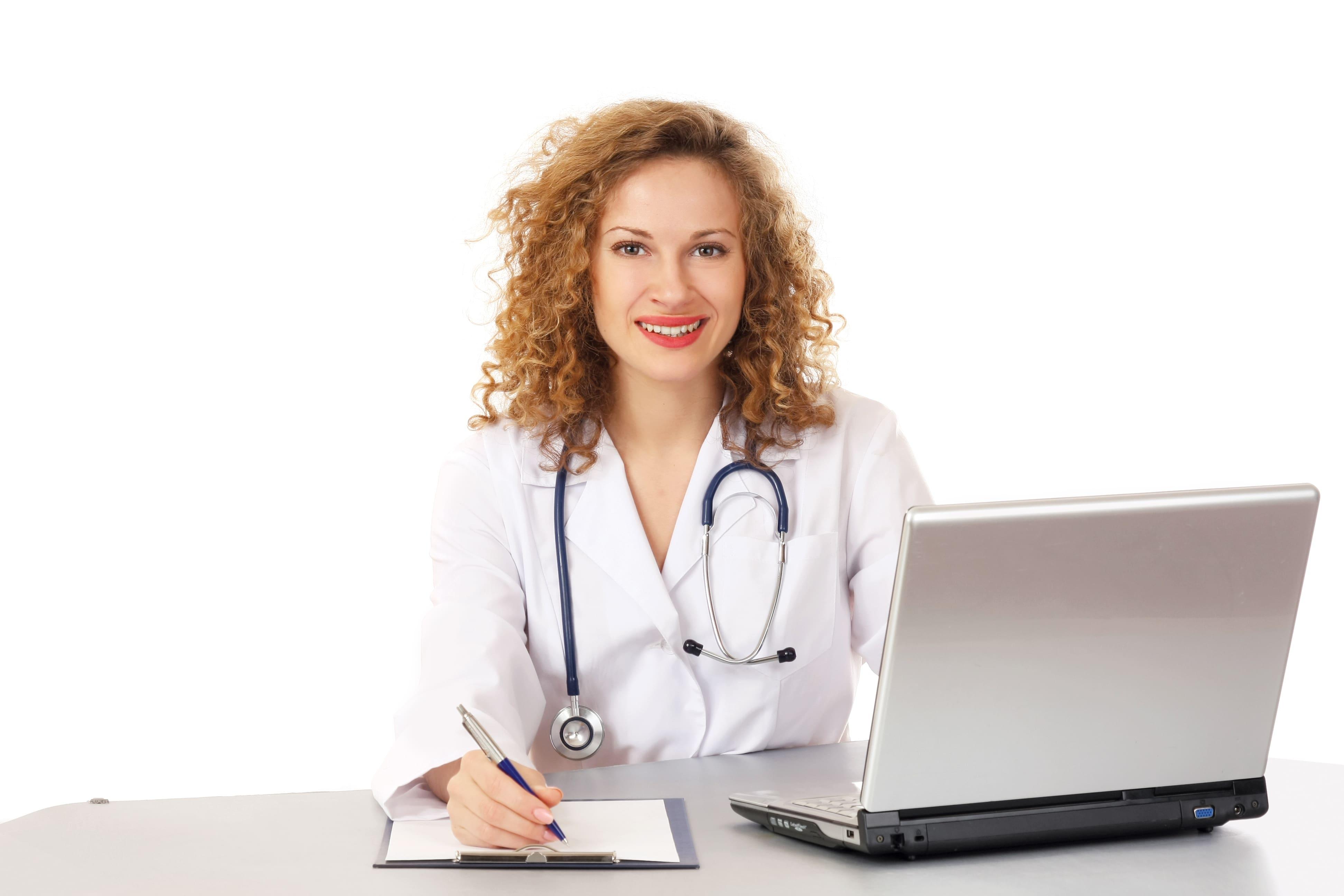 Woman doctor describing diagnosis